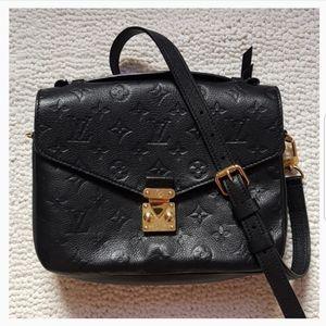 LV Monogram Empreinte Leather Pochette Metis